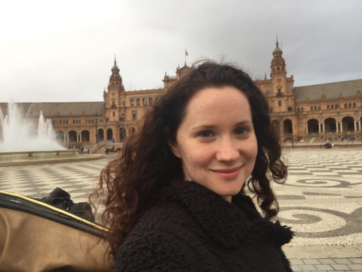 Colleen in Seville, Spain, while on her four-month trip abroad.