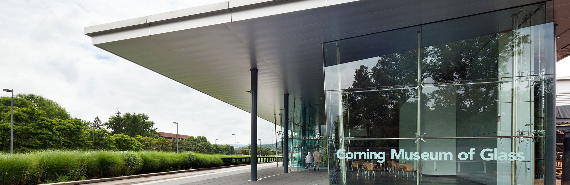 The Corning Museum of Glass entrance