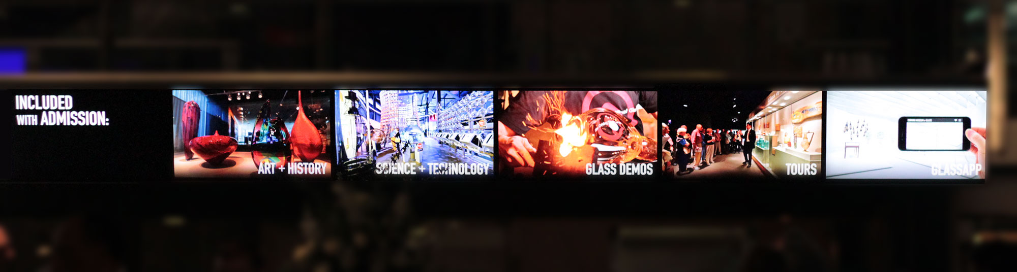 Corning Museum of Glass digital signage redesign